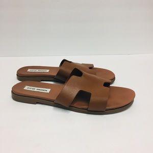 Steve Madden Harriet Tan Leather Sandals. 9